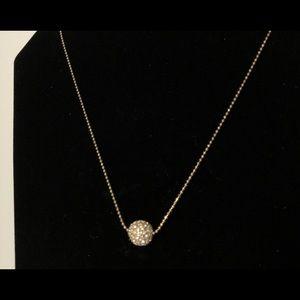 Givenchy Gold-Tone Crystal Disco Ball Necklace